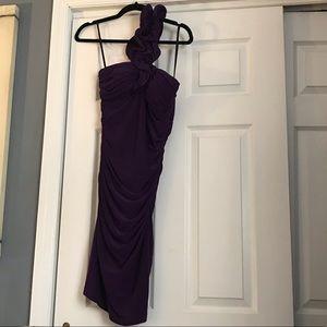 betsy & adam purple cocktail dress sz 10